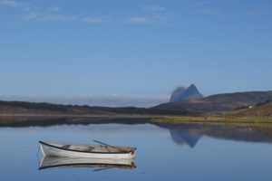 Photo of a boat in Scottish Highlands